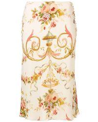Dior Юбка Миди С Цветочным Узором Pre-owned - Многоцветный