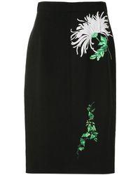 N°21 フローラル ドレス - ブラック