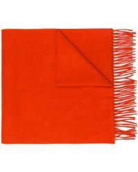 N.Peal Cashmere Sjaal Met Franje - Oranje