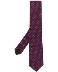Lanvin Geometric Pattern Tie - Blue