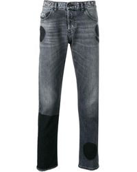 Diesel Black Gold - Military Patch Slim Jeans - Lyst