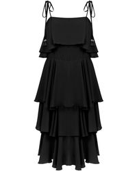 Olympiah Primosole Midi Dress - Черный
