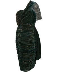 Marco De Vincenzo Metallic Pleated Dress - Blue
