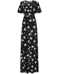 byTiMo Small Bouquet Floral-print Maxi Dress - Black