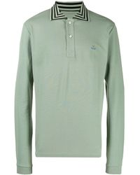Vivienne Westwood Striped Collar Polo Shirt - Green