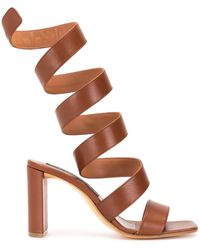 Y. Project Wrap Around Sandals - Brown