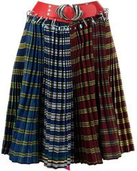 Chopova Lowena Pleated Colour-block Stripe Skirt - Multicolor