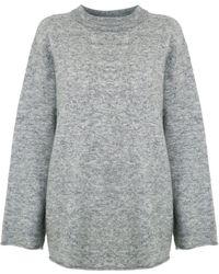 Osklen Slouchy Wool Sweater - Gray