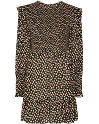 RIXO London Talisa フローラル ドレス - ブラック