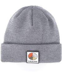 Raeburn Logo Patch Beanie - Gray