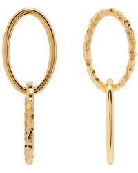 All_blues Gold Vermeil Ellipse Double Earrings - Metallic