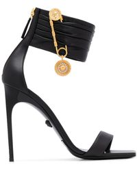 Versace セーフティピン サンダル - ブラック