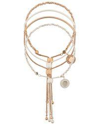 Astley Clarke Double Cylinder Cosmos Bracelet Stack - Многоцветный