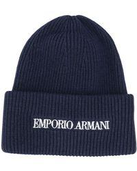 Emporio Armani - Шапка Бини С Вышитым Логотипом - Lyst