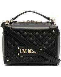 Love Moschino Стеганая Сумка-тоут С Логотипом - Черный