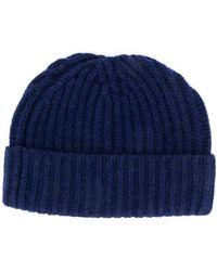 Danielapi Ribbed Knit Beanie Hat - Blue