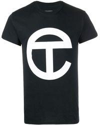 Telfar Длинная Футболка С Логотипом - Черный
