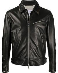 Valentino ロックスタッズ レザージャケット - ブラック