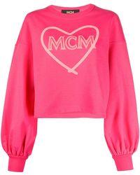 MCM Sweater Met Hartprint - Roze
