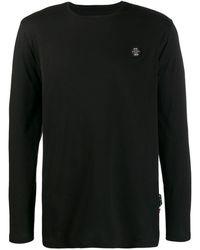 Philipp Plein Camiseta LS Original con cuello redondo - Negro