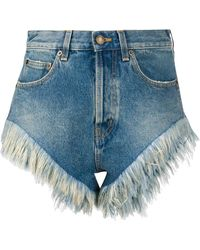 Saint Laurent Denim Shorts - Blauw