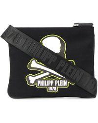 Philipp Plein Skull Patch Messenger Bag - Black