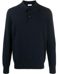 Filippa K ロングスリーブ ニットポロシャツ - ブルー