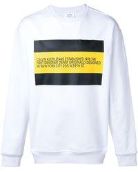 CALVIN KLEIN JEANS EST. 1978 Logo Print Sweatshirt - White