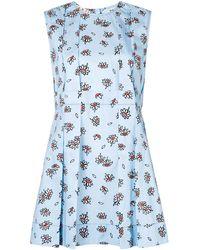 Marni Bluse mit floralem Print - Blau