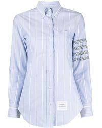 Thom Browne 4bar ボタン シャツ - ブルー