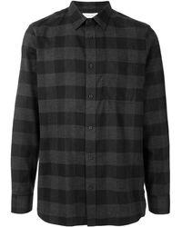 Calvin Klein Клетчатая Рубашка - Серый