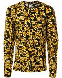 Versace Top de pijama estampado - Negro