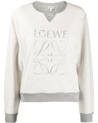 Loewe Толстовка С Вышитым Логотипом - Серый