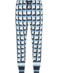 Dolce & Gabbana マジョリカプリント Dgパッチ トラックパンツ - ホワイト