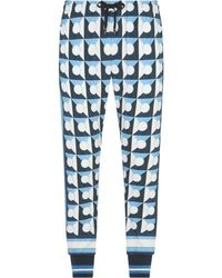 Dolce & Gabbana Majolica-print Dg-patch Track Trousers - White