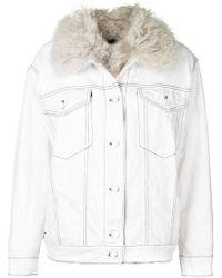 Alexander Wang   Denim Shearling Jacket   Lyst
