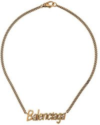 Balenciaga Ожерелье Typo - Металлик