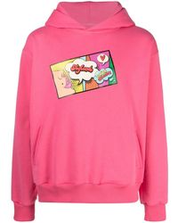 Styland Pop Art Print Hoodie - Pink