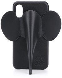 Loewe Чехол Для Iphone Xs С Аппликацией - Черный
