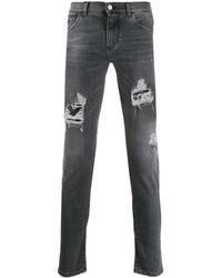 Dolce & Gabbana Джинсы Скинни С Эффектом Потертости - Серый