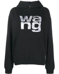 Alexander Wang Sweat à capuche Money Logo - Noir