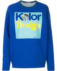 Kolor Embellished print sweatshirt - Bleu