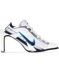 Ancuta Sarca Mules con tacón de 100mm de x Nike - Blanco