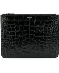 Givenchy - Crocodile Embossed Pouch - Lyst