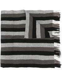 Issey Miyake Striped scarf - Schwarz