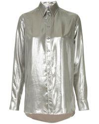 Ralph Lauren Collection - Longsleeved Metallic Shirt - Lyst