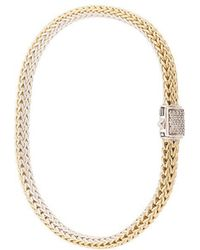 John Hardy - 18kt Yellow Gold And Sterling Silver Reversible Classic Chain Diamond Bracelet - Lyst