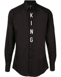 Dolce & Gabbana King パッチ シャツ - ブラック