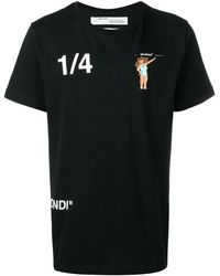 Off-White c/o Virgil Abloh Camiseta estampada con cuello redondo - Negro
