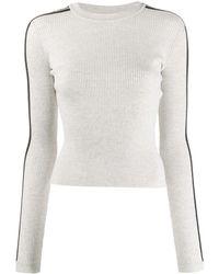 Fiorucci Logo Long-sleeve Sweater - Grey